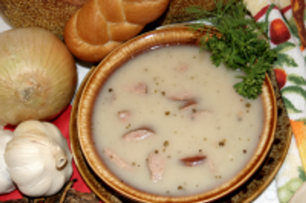 White Borscht with Kielbasy