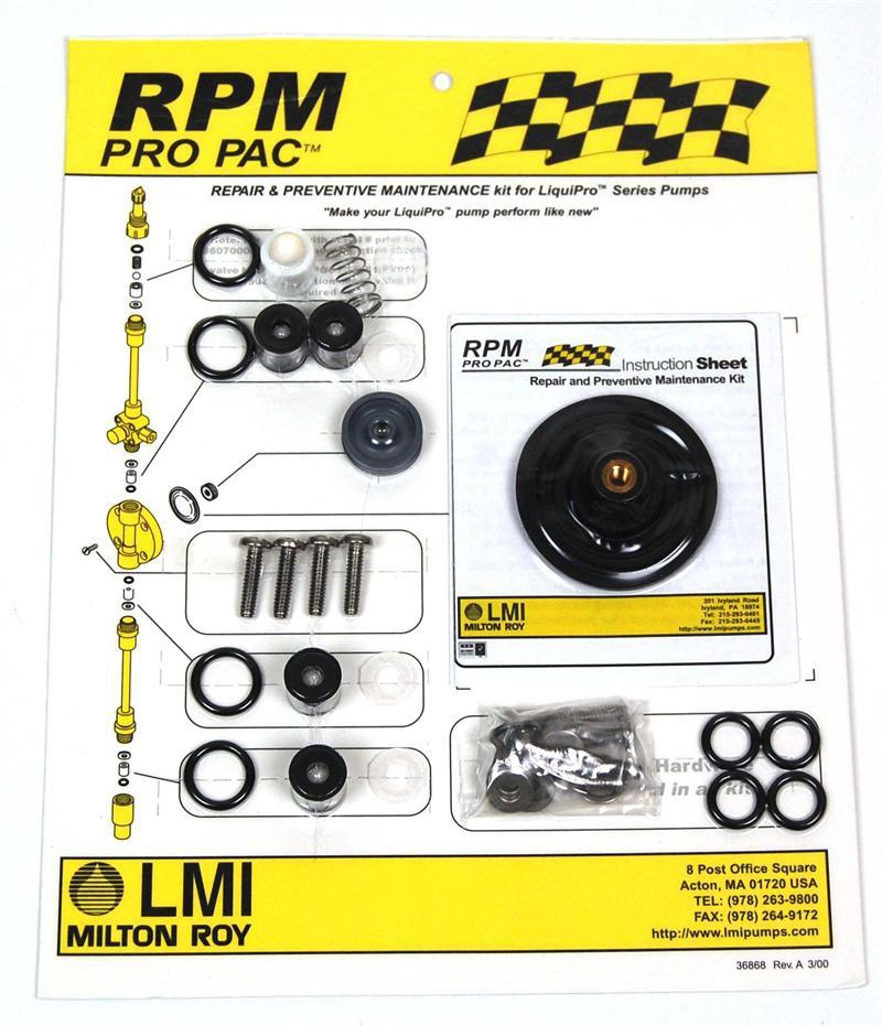 LMI Pump LiquiPro Rebuild Kits