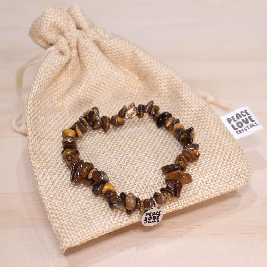 Gold Tiger Eye Chip Bracelet