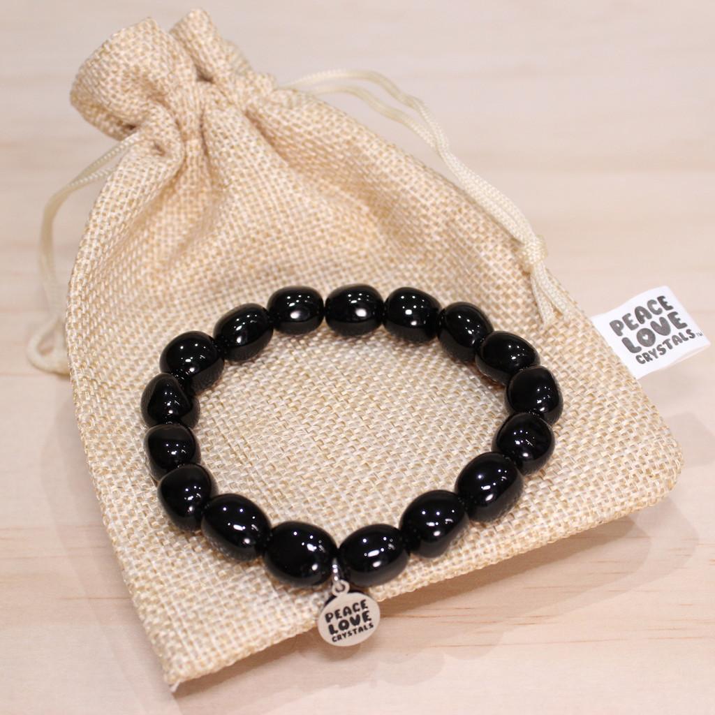 Black Obsidian Pebble Bracelet