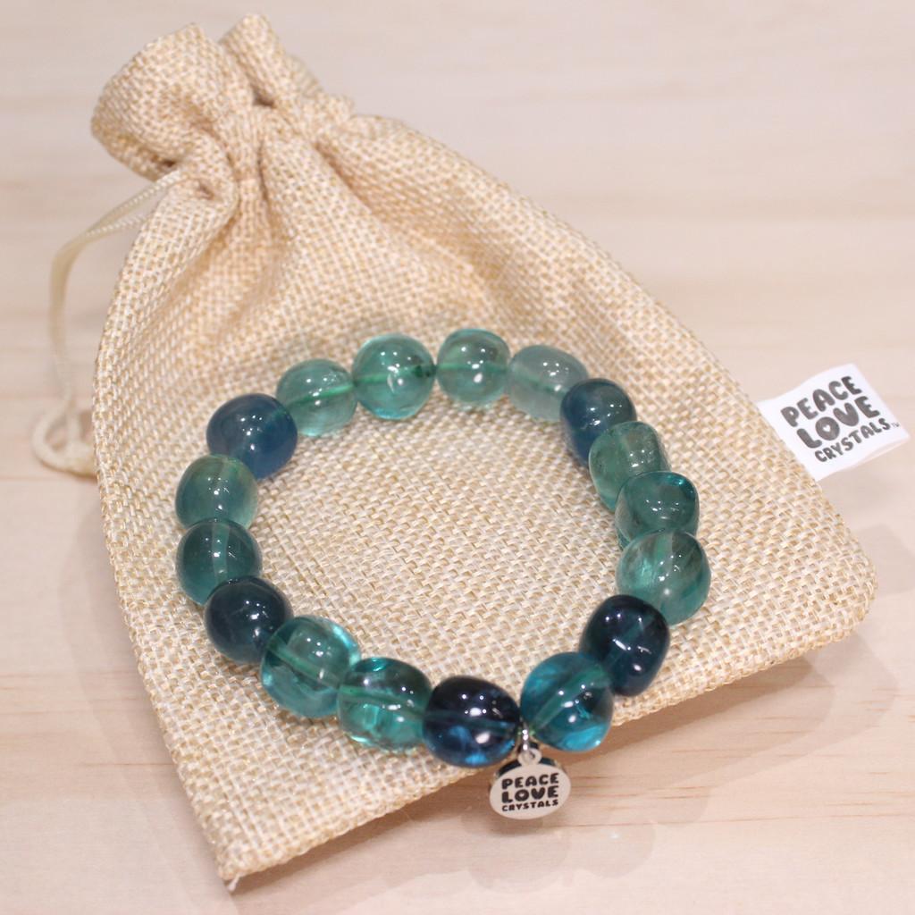 Blue Fluorite Pebble Bracelet