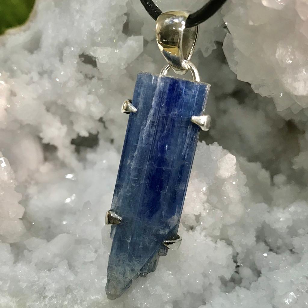 Blue Kyanite Sterling Silver Pendant