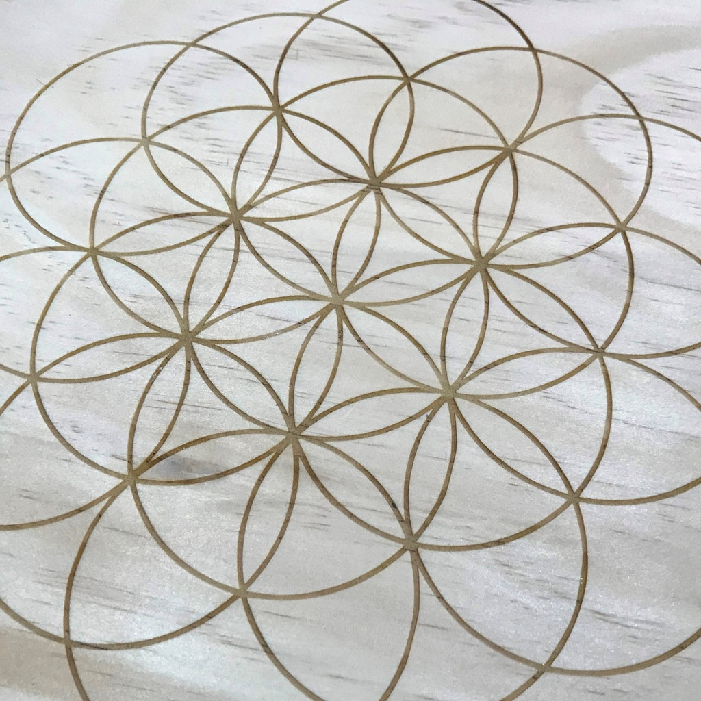 Flower of Life Sacred Unbounded Geometry Crystal Grid