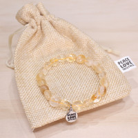 Citrine Pebble Bracelet