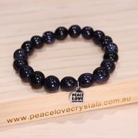 Blue Goldstone Pebble Bracelet