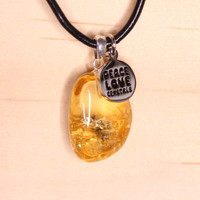 Citrine Tumbled Stones Pendants