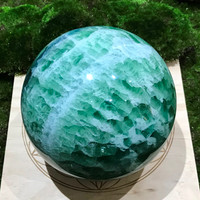 Green Fluorite Sphere