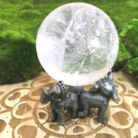 Elephant Sphere Stand