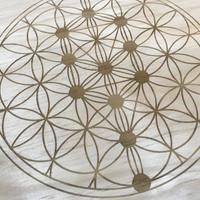 Tree of Life Sacred Geometry Crystal Grid