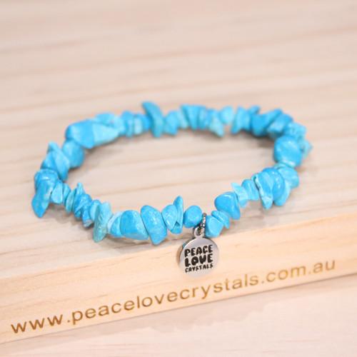 Blue Howlite Chip Bracelet
