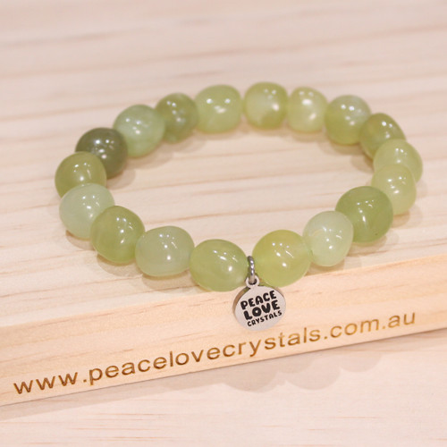 New Jade  Pebble Bracelet