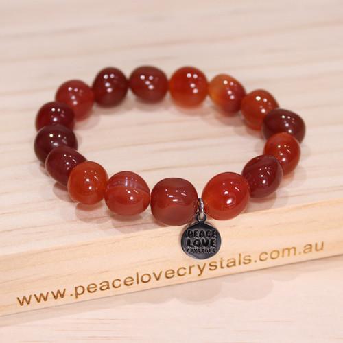 Carnelian Pebble Bracelet