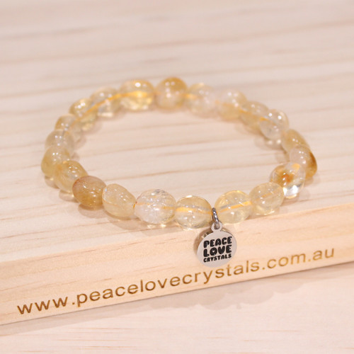 Citrine Pebble Bracelet