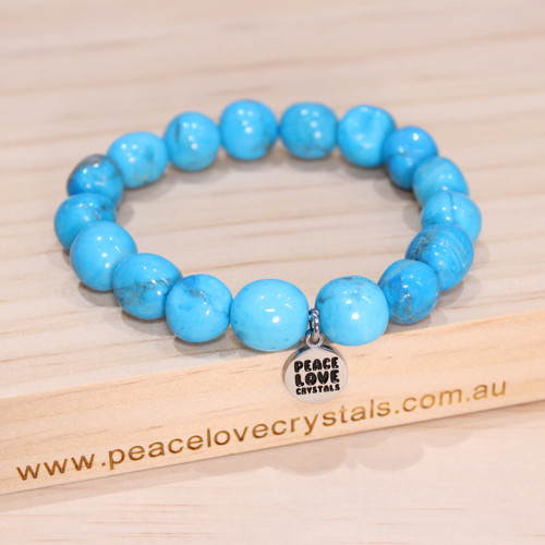 Blue Howlite Pebble Bracelet