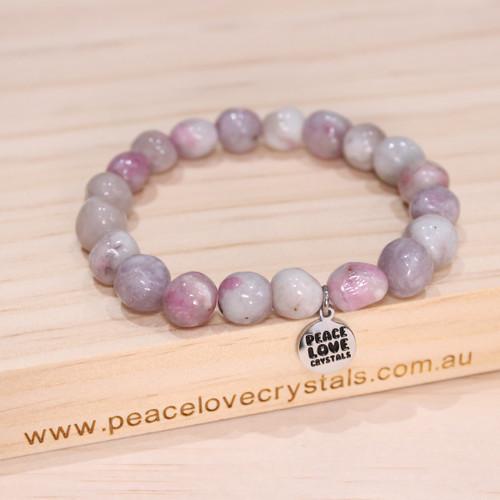 Pink Tourmaline Pebble Bracelet