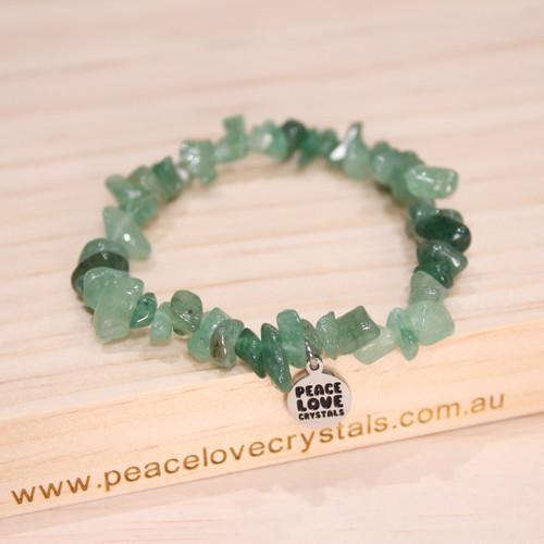 Green Aventurine Chip Bracelet