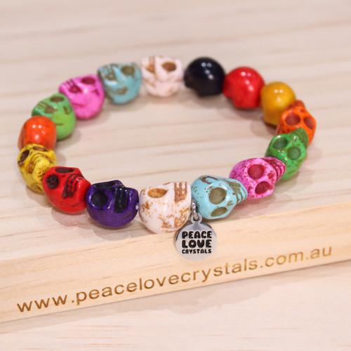 Rainbow Skull Bracelet