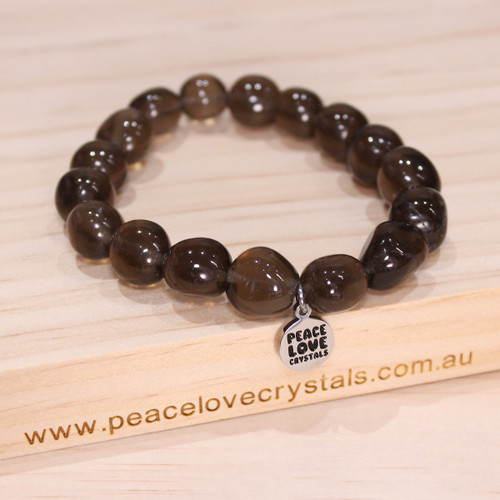 Smoky Quartz Pebble Bracelet