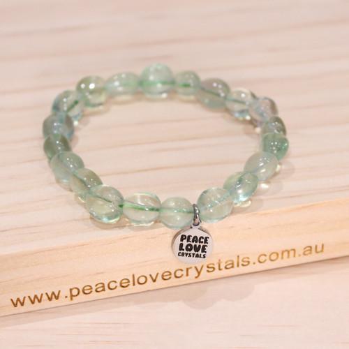 Green Fluorite Pebble Bracelet