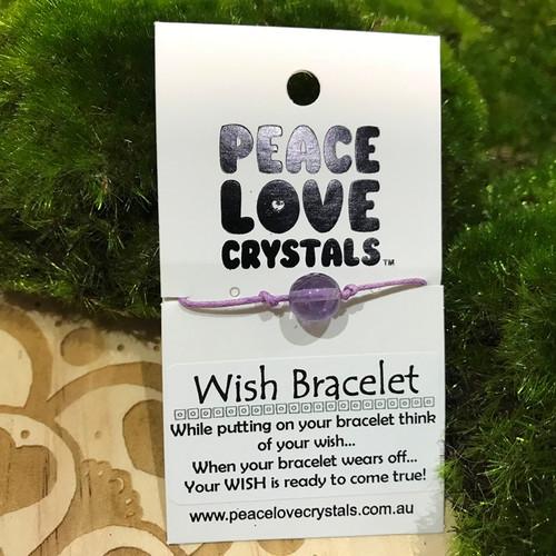 Amethyst Pebble Wish Bracelet