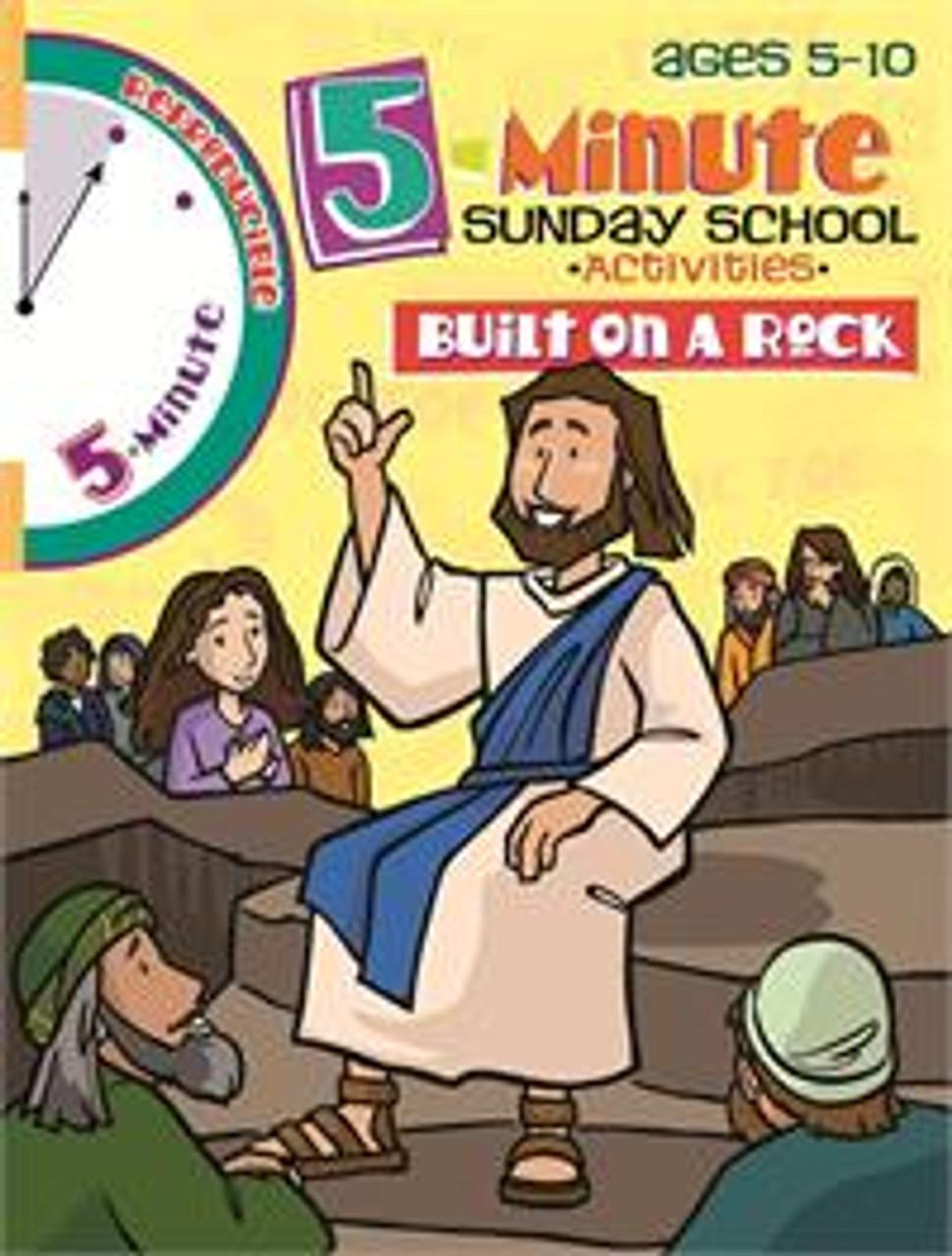 5 Minute Sunday School Activities Built On A Rock