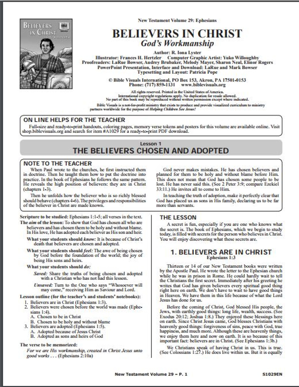 Believers in Christ (visuals only)