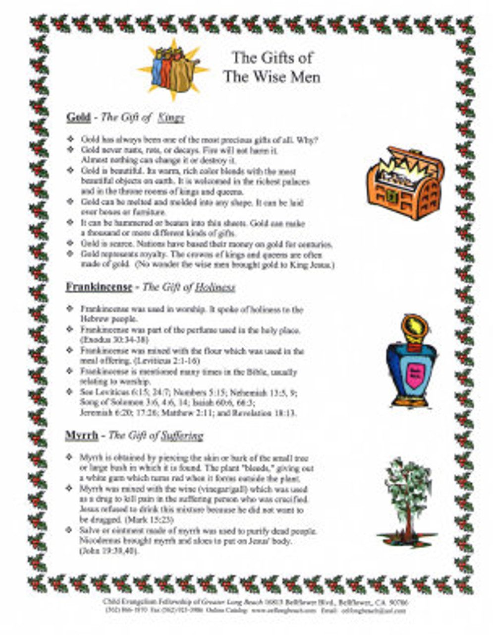 Gifts of the Wisemen (object story)