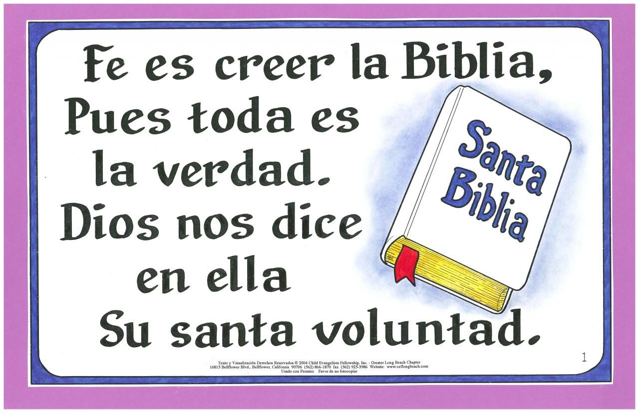 Fe es Creer la Biblia (Faith is Just Believing)