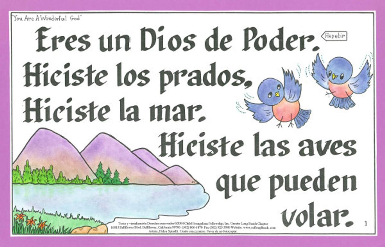 Eres un Dios de Poder (You are a Wonderful God)