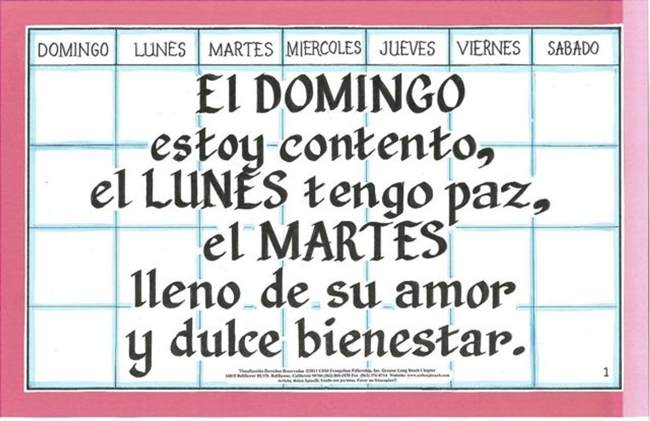 El Domingo Estoy Contento (Saved Every Day of the Week)
