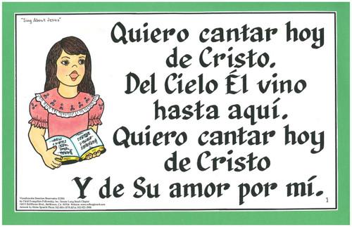 Quiero Cantar Hoy De Cristo (Sing About Jesus)