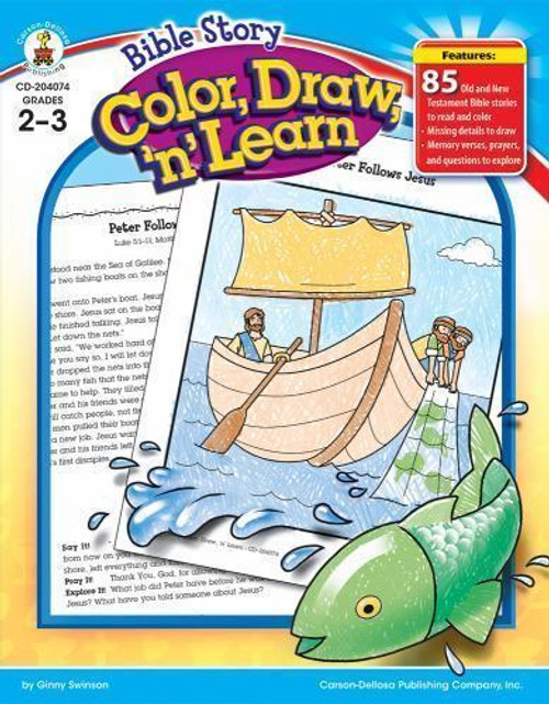 Bible Story Color, Draw, n Learn Grades 2-3
