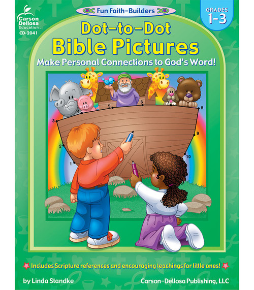 Dot to Dot Bible Pictures Grades 1-3