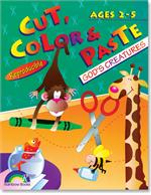 Cut, Color & Paste fun for Ages 2-5 God's Creatures
