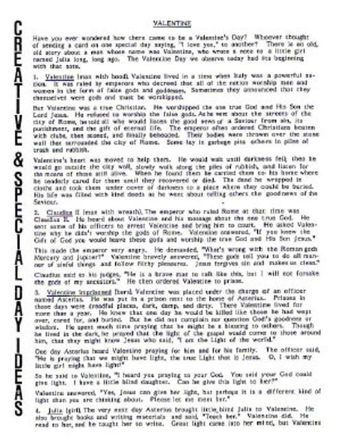 Valentine History (object story)