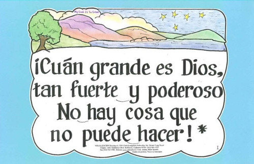 Cuan Grande es Dios (My God is so Great)