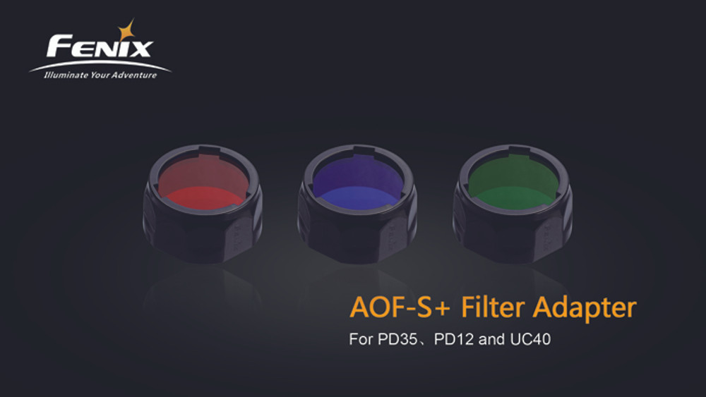 AOF-S+ Red filter adapter for PD35, PD12 and UC40