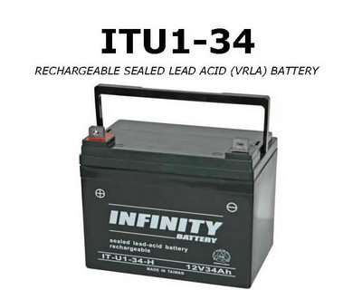 GS Infinity - IT U1-34 - 12volt - 34Ah - U1