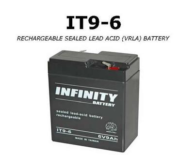 GS Infinity - IT 9-6 F1 - 6volt - 9Ah - F1