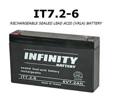 GS Infinity - IT 7.2-6 F1 - 6volt - 7.2Ah - F1