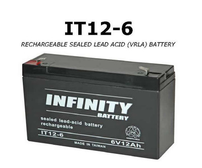 GS Infinity - IT 12-6 F1 - 6volt - 12Ah - F1