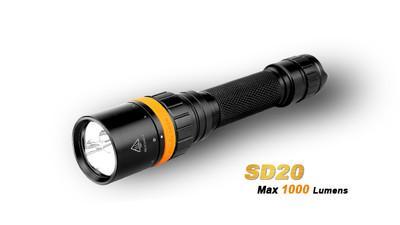 SD20 - 1000 Lumens. 2 x 18650/4 x CR123A