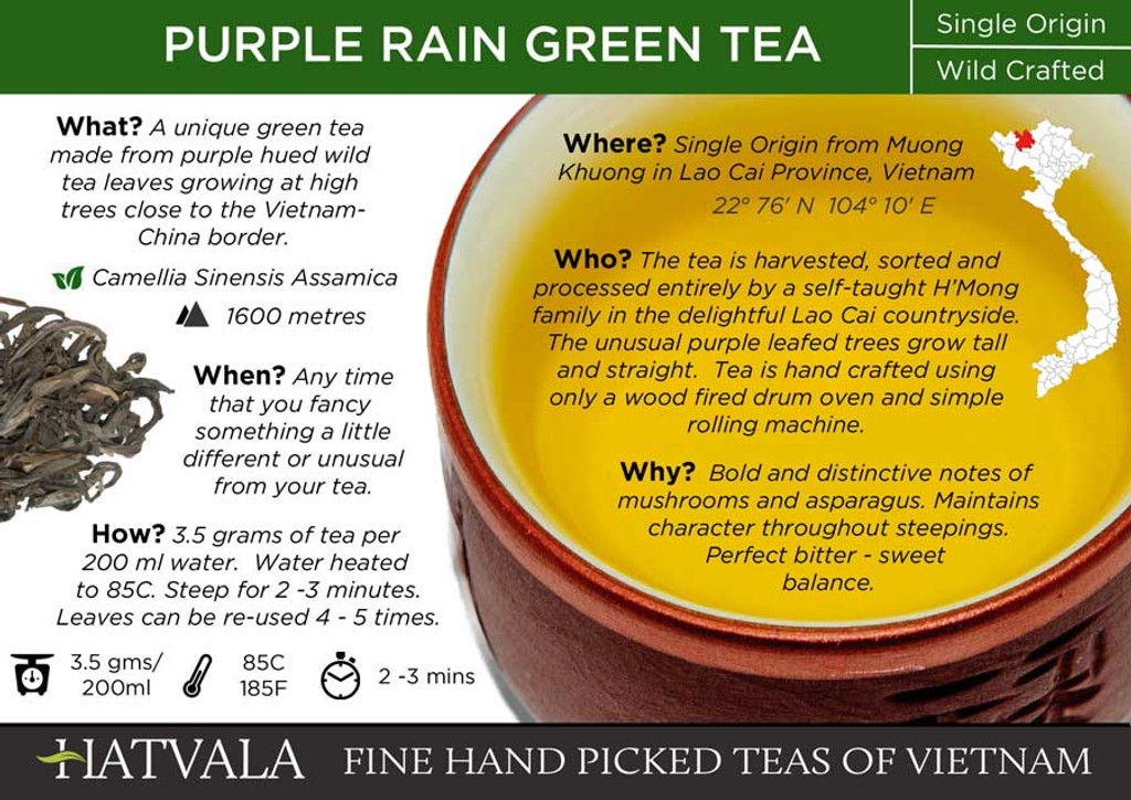 Purple Rain Green Tea Card