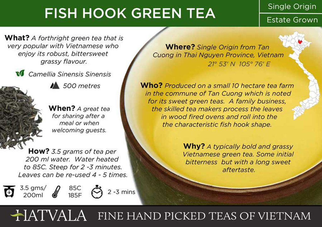 Fish Hook Tea Card