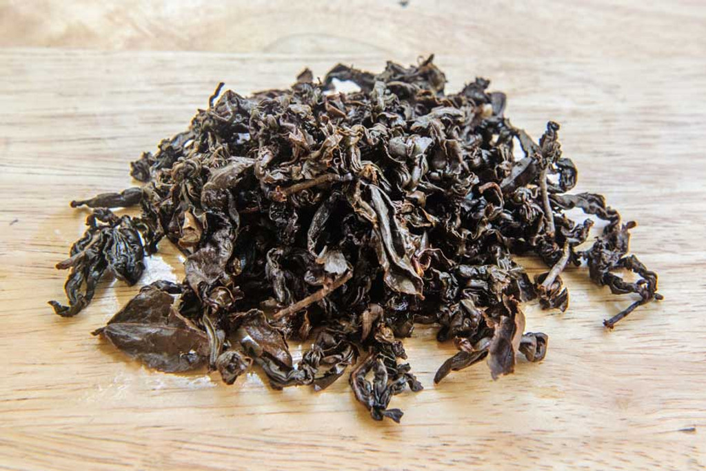 Red Buffalo Oolong Tea Wet Leaves