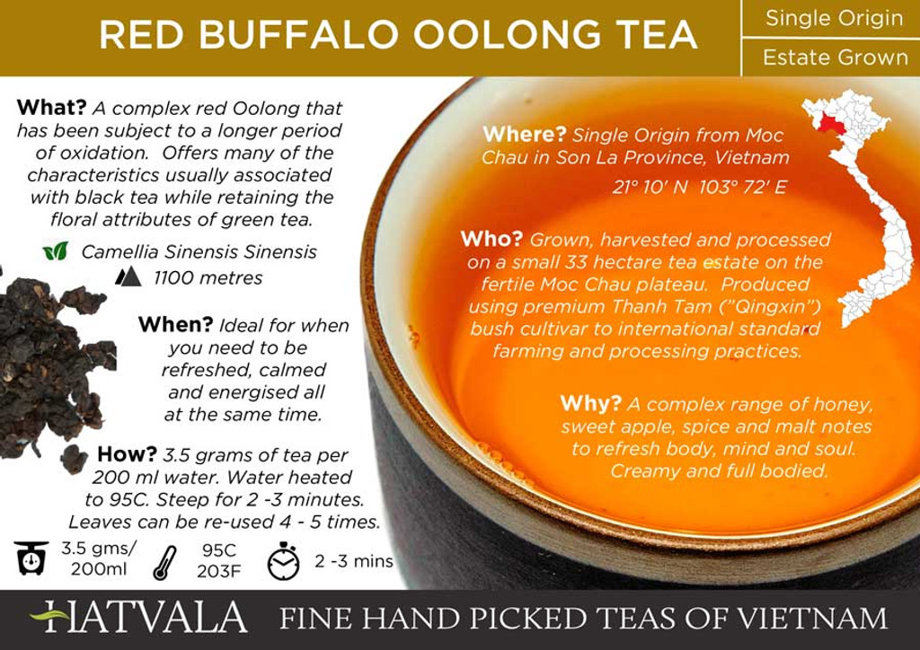 Red Buffalo Oolong Tea Card