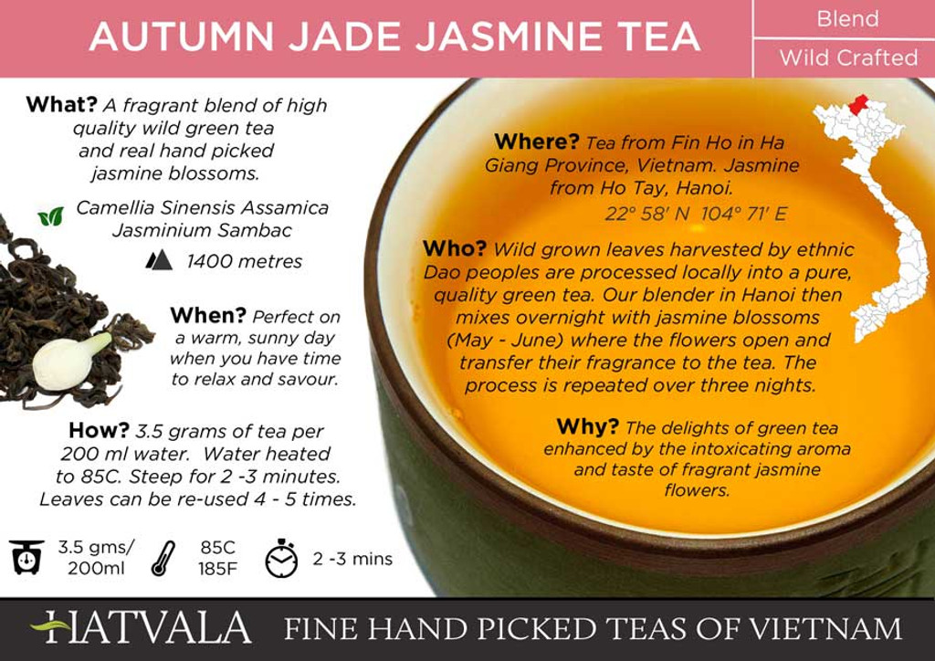 Autumn Jade Jasmine Tea Card