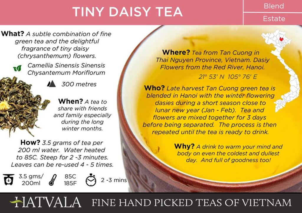 Tiny Daisy Tea Card