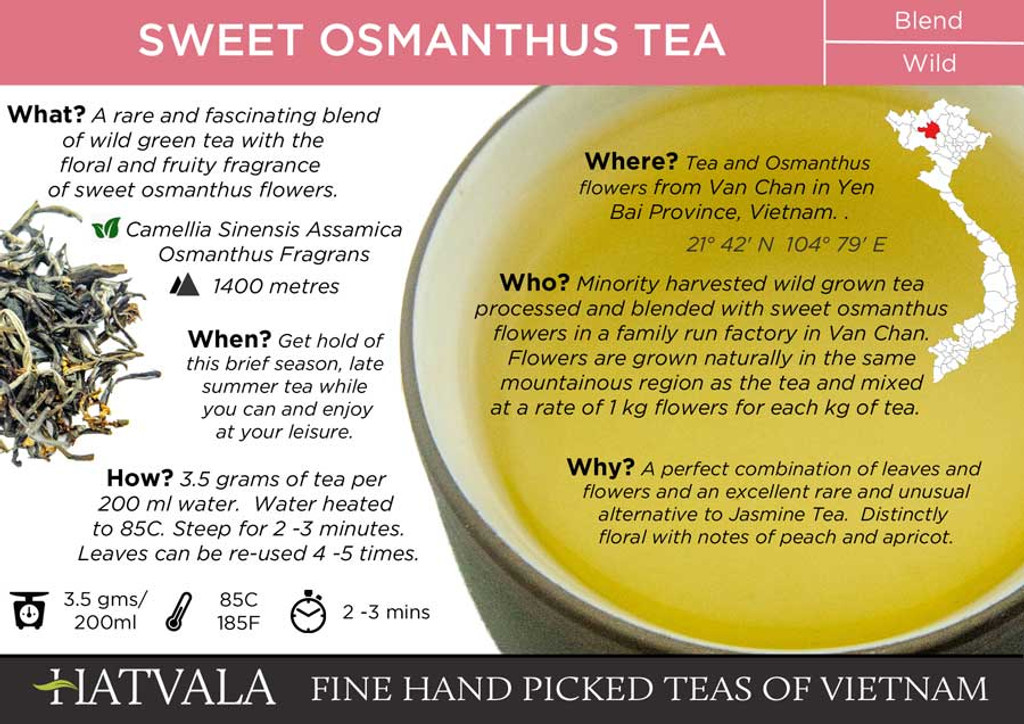 Sweet Osmanthus Tea Card