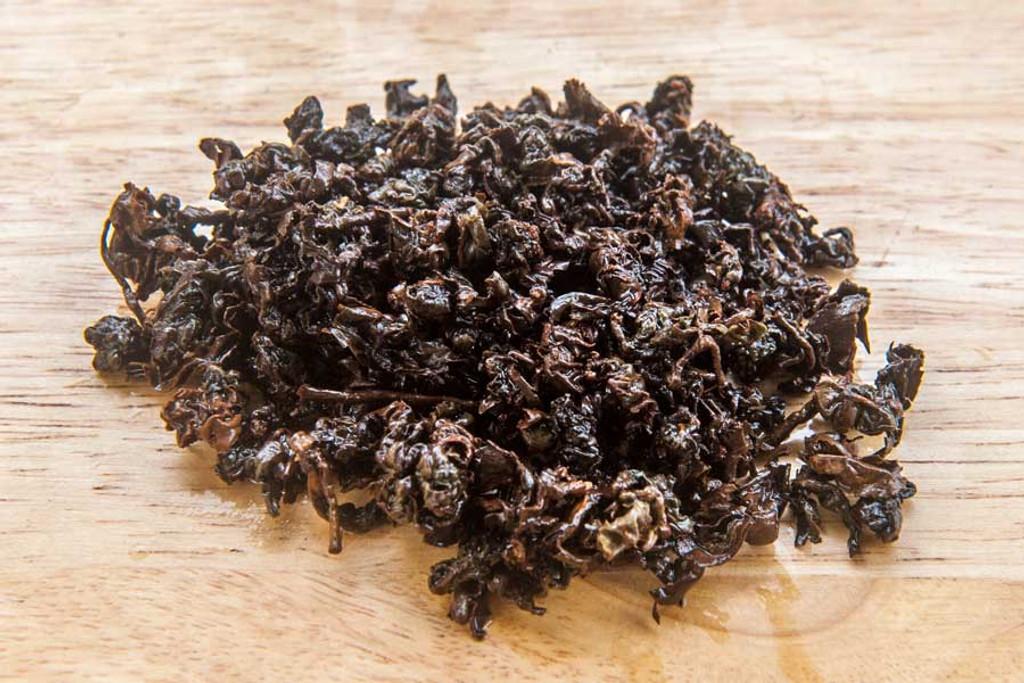 Golden Turtle Oolong Tea Wet Leaves